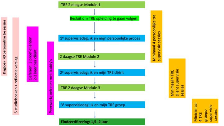 Schema opbouw TRE certificeringstraject